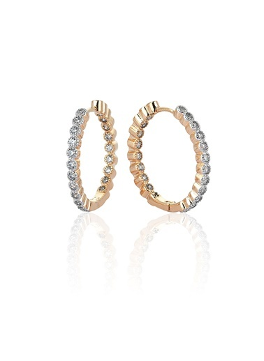 1,40 Ct Pırlanta Efekt Vitta  Altın Küpe-Tophills Diamond Co.